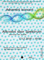 Alikvotní sbor Spektrum - pozvánka na vánoční koncert 17.12.2018