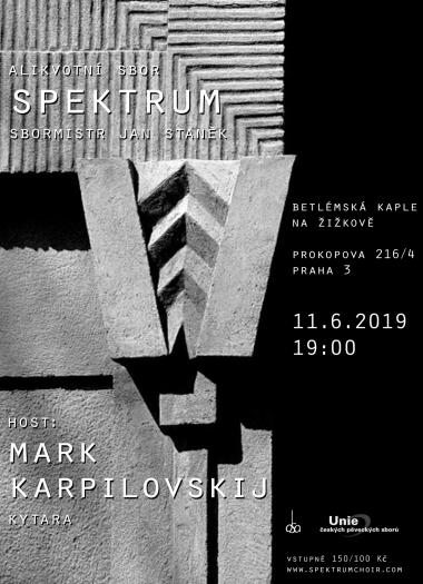 Pozvanka na koncert, Alikvotní sbor Spektrum 11.6.2019
