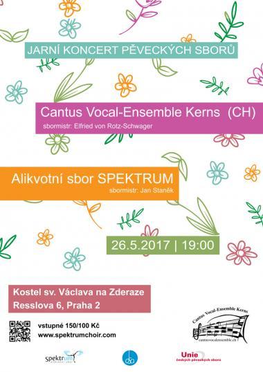 Alikvotní sbor Spektrum - pozvánka na koncert 26.5.2017