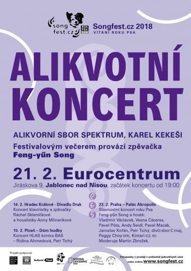 Alikvotní sbor Spektrum, pozvánka na koncert 21.2.2018