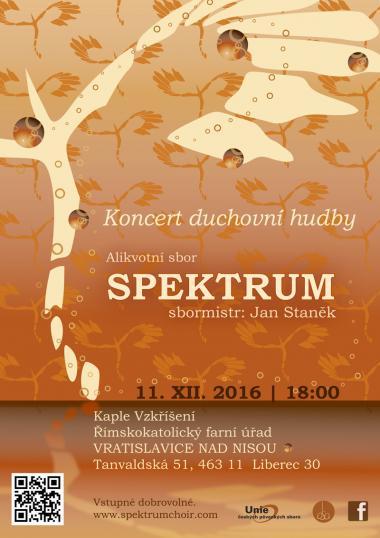 Pozvánka na koncert - Alikvotní sbor Spektrum 11.12.2016