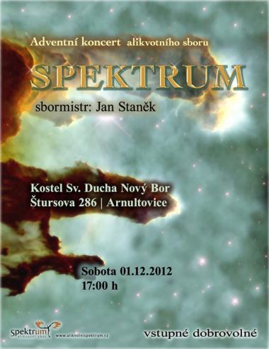 Alikvotní sbor Spektrum - pozvánka na koncert 1.12.2012