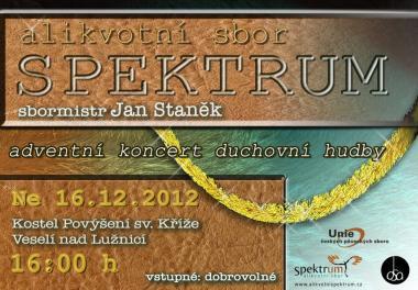 Alikvotní sbor Spektrum - Pozvánka na koncert 16.12.2012