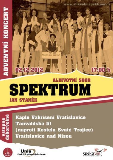 Alikvotní sbor Spektrum - pozvánka na koncert 2.12.2012