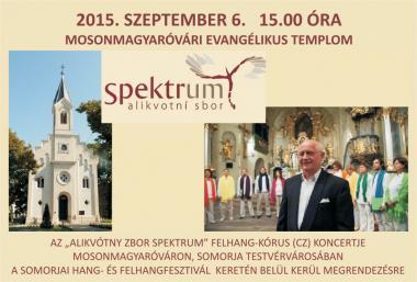 Pozvánka na koncert - Alikvotní sbor Spektrum 6.9.2015