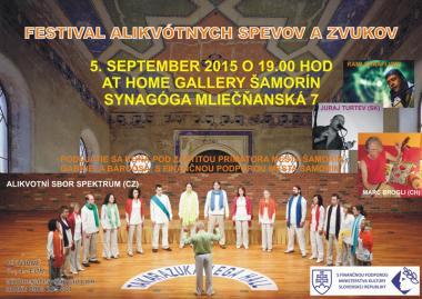 Pozvánka na koncert - Alikvotní sbor Spektrum 5.9.2015