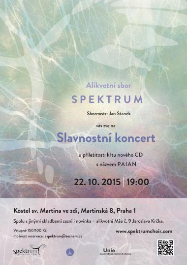 Alikvotní sbor Spektrum - pozvánka na koncert 22.10.2015
