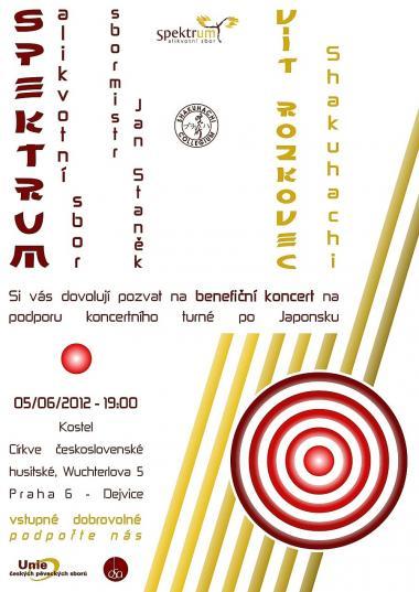 Pozvánka na koncert 5.6.2012 - Alikvotní sbor Spektrum a Vít Rozkovec