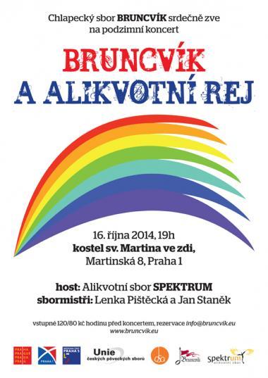 Alikvotní sbor Spektrum - Pozvánka na koncert 16.10.2014