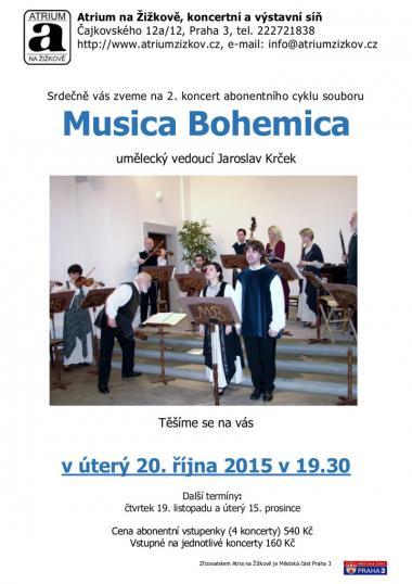 Alikvotní sbor Spektrum - pozvánka na koncert 20.10.2015