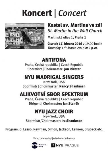 Alikvotní sbor Spektrum - pozvánka na koncert 17.3.2016