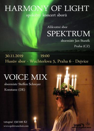 Pozvanka na koncert 30.11.2019 - Alikvotní sbor Spektrum