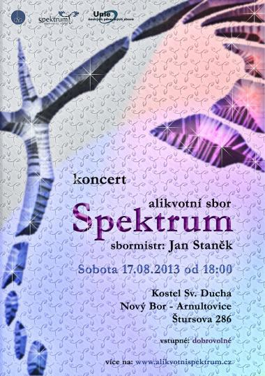 Overtone choir Spektrum, invitation to concert 17.8.2013