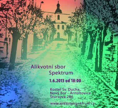 Pozvánka na koncert, Alikvotní sbor Spektrum, 1.6.2013