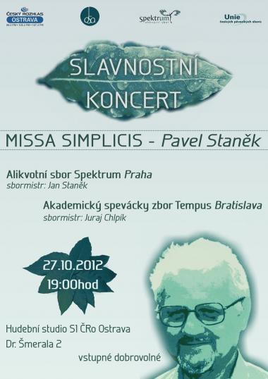 Alikvotní sbor Spektrum - pozvánka na koncert 27.10.2012