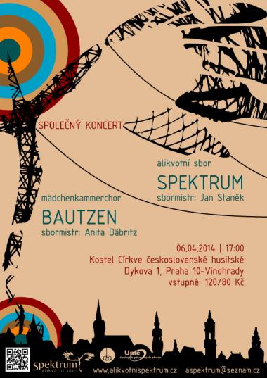 Overtone choir Spektrum - invitation to concert 6.4.2014