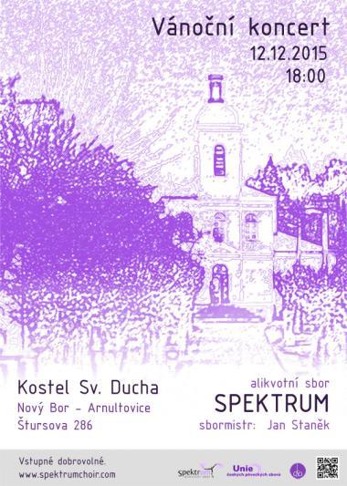 Alikvotní sbor Spektrum - pozvánka na koncert 12.12.2015