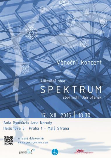 Alikvotní sbor Spektrum - pozvánka na koncert 17.12.2015