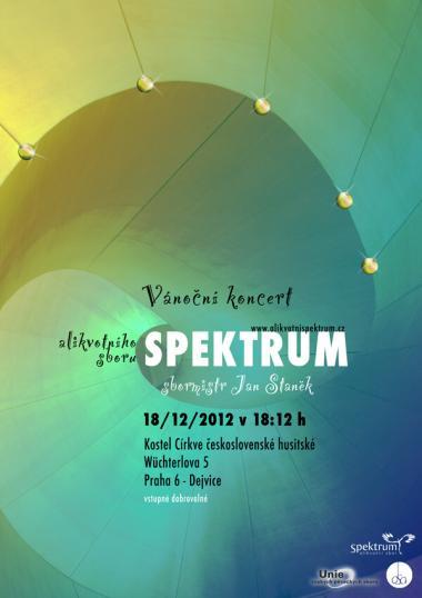 Alikvotní sbor Spektrum, pozvánka na koncert 18.12.2012