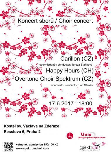 Alikvotní sbor Spektrum - pozvánka na koncert 17.6.2017