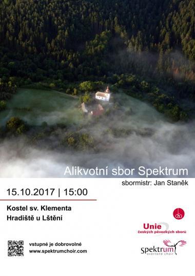 Pozvánka na koncert 15.10.2017, Alikvotní sbor Spektrum