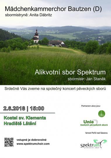 Alikvotní sbor Spektrum - pozvánka na koncert 2.6.2018