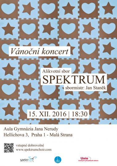 Alikvotní sbor Spektrum - pozvánka na koncert 15.12.2016